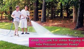 What To Look For When Buying A New Pressure Washer Pump