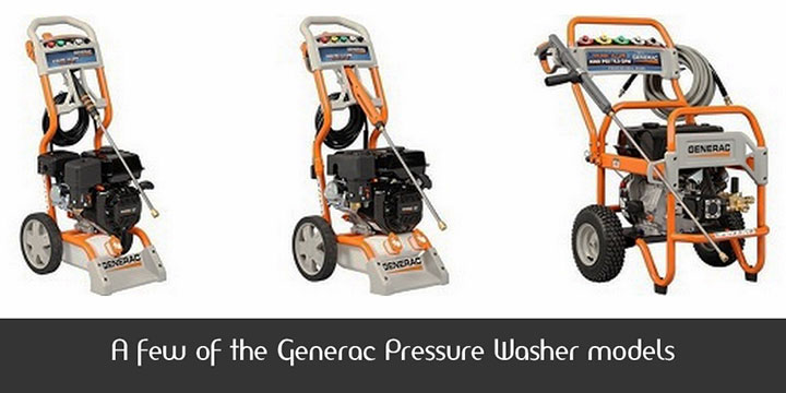A few of the Generac Pressure Washer models