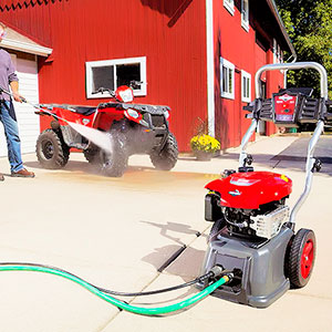 Cleaning with Black Max Pressure Washers