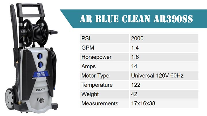 AR Blue Clean AR390SS SPECIFICATIONS