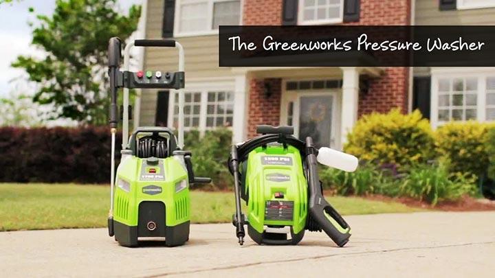 The Greenworks Pressure Washer